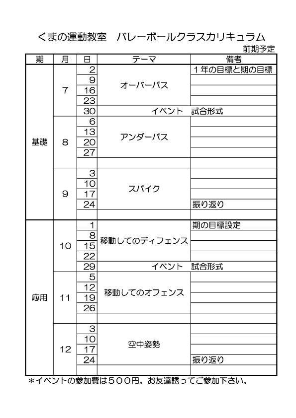 バレークラス2期計画